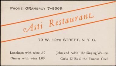 Asti Business card